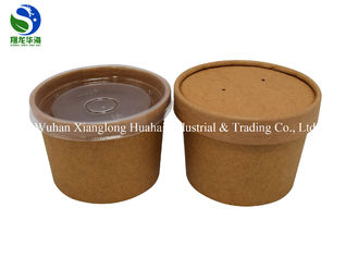 650ML & 800ML Eco Friendly Small Paper Bowls Reusable With Plastic Lids