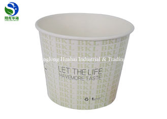 Restaurant Disposable Paper Soup Bowls Designed Microwave Salad Take Out Kraft